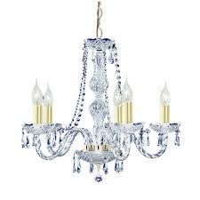hale 5 light gold crystal chandelier