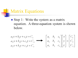 1 matrix equations