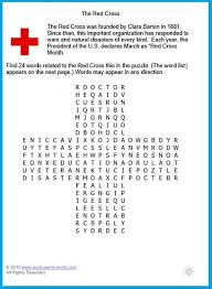 Word In Red Fun Educational Games To Play The Red Cross Word Search