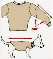 stylish dog sweater tutorial