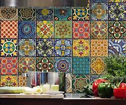 on mexican talavera wall art with mexican talavera tile decal