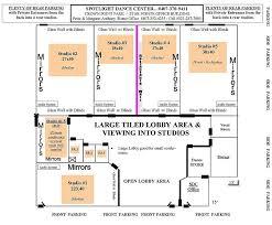 dance studio floor plan layout