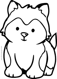 Small Picture Husky Baby Coloring Page Wecoloringpage