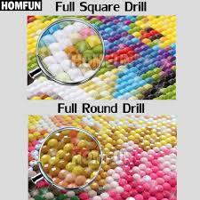 <b>HOMFUN</b> Full Square/Round Drill <b>5D</b> DIY <b>Diamond</b> Painting ...