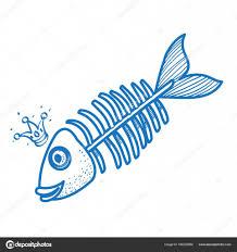 рыба логотип скелет рыбы логотип векторное изображение Filkusto