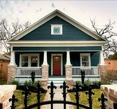 small house paint color. Ornate Black Fences And Navy Blue Exterior Paint Colors For Small Houses House Color E