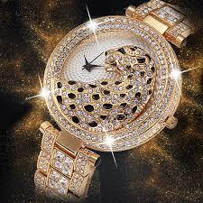 Ladies Designer Bling Watches Miss Fox New Leopard Watch Fashion Brand Ladies Designer