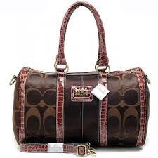 Coach In Signature Medium Coffee Luggage Bags APV