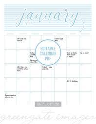 2018 Printable Fillable Calendar Editable Calendar 2018 Calendar