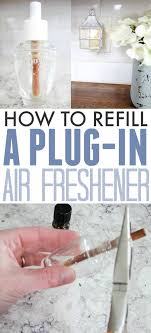 did you know that you can refill a plug in air freshener so you can