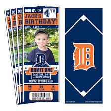12 detroit tigers birthday party ticket invitations 1 jpg