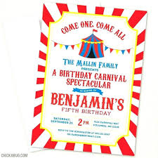 Carnival Party Invitation Template Carnival Party Ticket Invitations