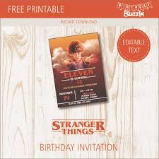 Birthday Party Evites Free Printable Stranger Things Birthday Invitations