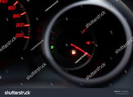 Gas Warning Light Car Dashboard Shows Flue Gas Red Stock Photo Edit Now