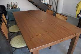 how to make an ikea table look old