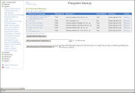 Filesystem Backup - Webmin Documentation