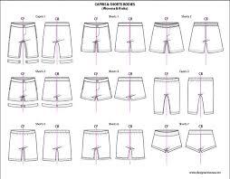 Shorts Design Template Kids Illustrator Flat Fashion Sketch Templates Shorts 850