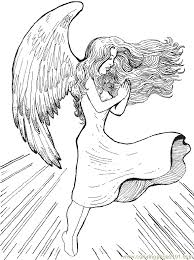 Small Picture Angel Coloring Pages For Adults Awesome Coloring Angel Coloring