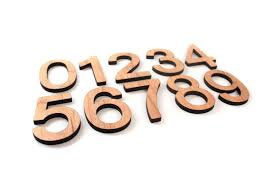 hand cut letters numbers