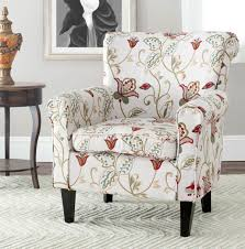 accent chairs color white red flower printed save