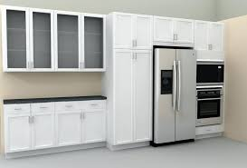 glass door cabinet modern kitchen cabinet with dark frosted glass and white cupboard and refrigerator detolf glass door cabinet