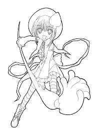 Shugo Chara Anime Coloring Pages For