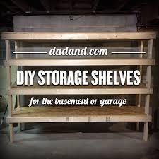 freestanding diy 2x4 shelves plans storage shelving for basement garage or pantry