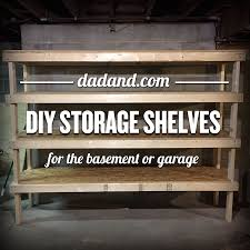 freestanding diy 2x4 shelves plans storage shelving for basement garage or pantry