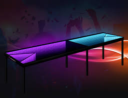 Infinity Coffee Table Infinity Glow Led Beer Pong Table Gadget Flow