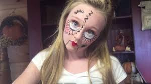 creepy doll face halloween makeup diy how to with princess ella you