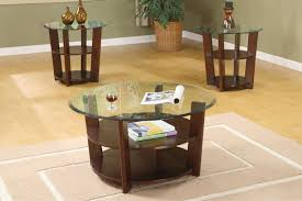 end tables glass top three tier round modern end tables with storage coffee table and