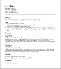 Gallery Of Accounts Manager Resume Example Free Templates Collection