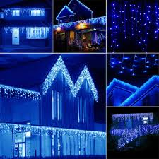 Blue Led Icicle Christmas Lights Details About 4 40m 96 960led Blue Lights Xmas Christmas Atmosphere Curtain Icicle String Lamp
