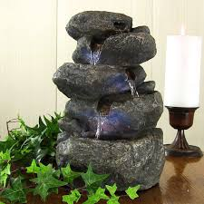 home decor fountains. indoor tabletop desk top rock water fountain for office or home decor with led fountains n