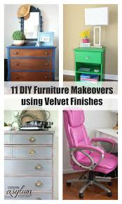 diy furniture makeovers. Check Out These 11 DIY Furniture Makeovers Using Velvet Finishes - All From Talented Bloggers! Diy