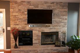 Living Room With Fireplace And Tv Decorating Captivating Living Room Decoration With Stacked Stone Fireplace