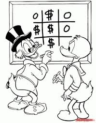 Donald Duck And Uncle Scrooge Coloring Page Disney Drawings Within
