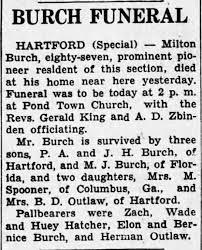 Obituary for Milton Burch - Newspapers.com