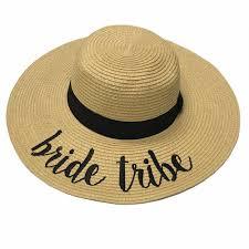 ST-2017 Bride Tribe Beach Hats \u2013 girliegirloriginals