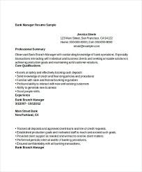 Sample Bank Manager Resume Pin By Joko On Resume Template Manager Resume Resume Job