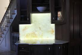 backlit onyx countertops custom shape led panel onyx backsplash