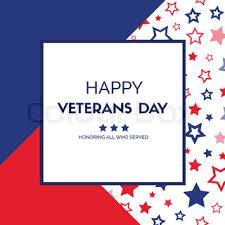 veterans day vector greeting card
