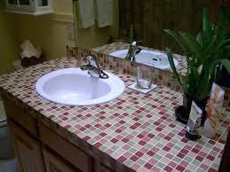 tile bathroom countertop ideas. Intricate Cheap Bathroom Countertop Ideas Beautiful Glass Tile On Home Design Gray Walls With . V