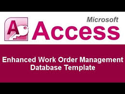 Microsoft Access Work Order Database Microsoft Access Enhanced Work Order Management Database Template