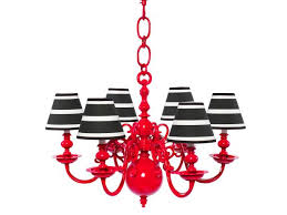 red black and white bold chandelier