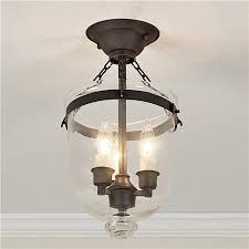 mini smokebell semi flush ceiling lantern 3 finishes get the classic smokebell ceiling lighting fixtures home office browse