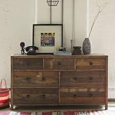 Standford Reclaimed Wood Large Chest Of Drawers Lifestyle