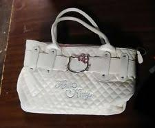 Hello Kitty Quilted Bag | eBay & Hello Kitty Quilted Faux Leather Shopping Bag Handbag Tote Purse White (JL) Adamdwight.com