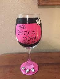 bunco gifts bunco party wine gles bunco night painted wine gl bunko gift bunco hostess gift
