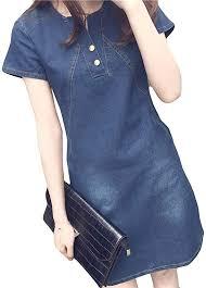 Kalinyer <b>Denim Dresses for</b> Women, Ladies Summer Plus Size ...